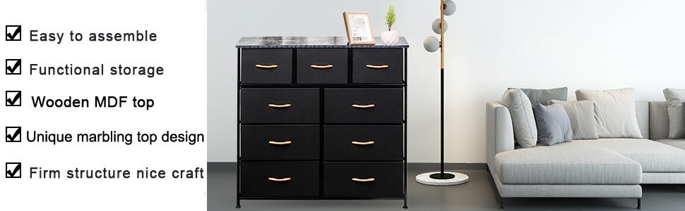 drawer dresser fabric closet