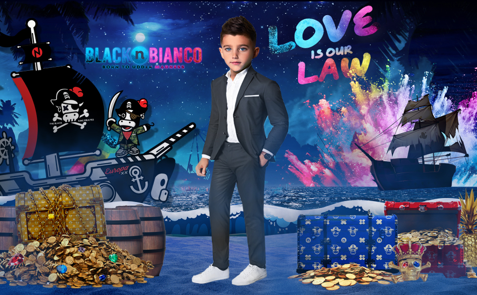 Black n bianco first class slim fit suits presented by Baby Muffin