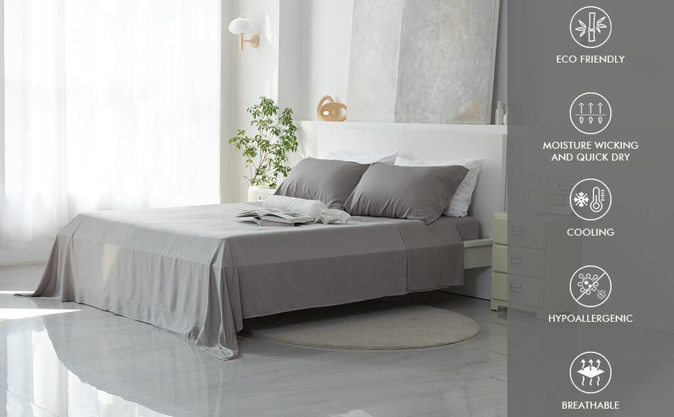 grey bamboo sheets