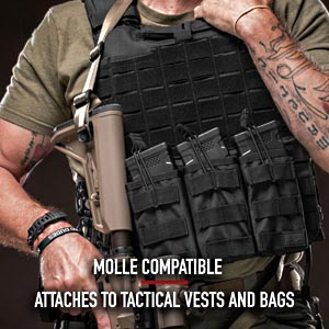 Outdoor Triple  Open Top Mag Pouch