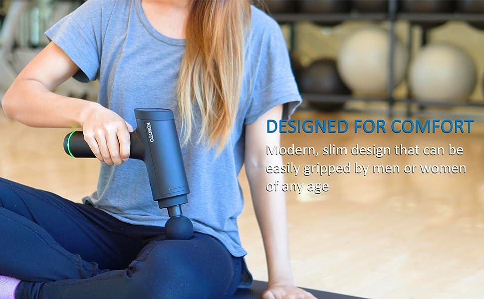 Massage Gun Body Fascia Massager Sports Drill Portable Quiet Brushless Motor with 6 Massage Heads