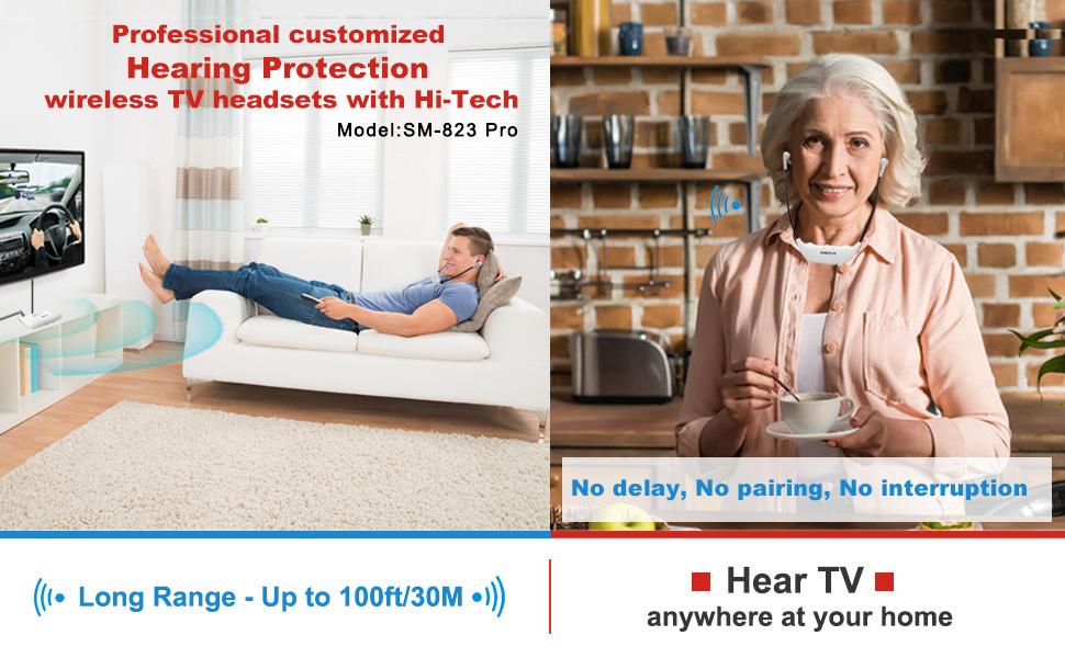 wireless tv headset with long range