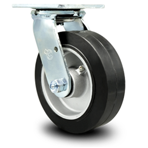 Service Caster, rubber on aluminum wheel