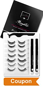 Magnetic eyelashes natural look with eyeliner clear lashes eye liner sets with applicator