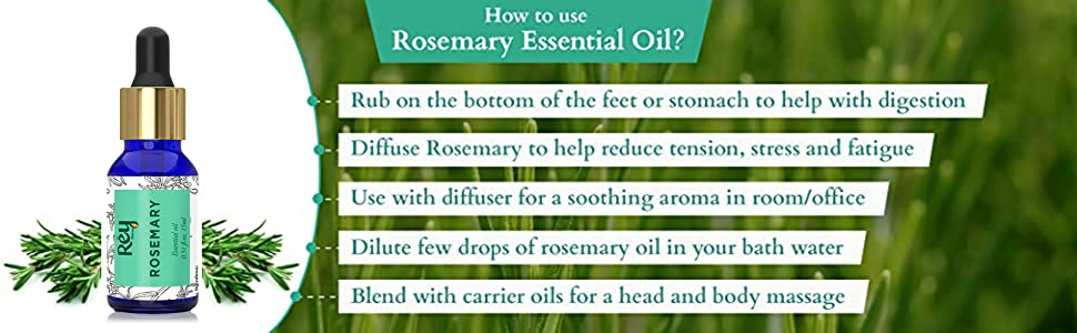 rey naturals rosemary essential oil how to use