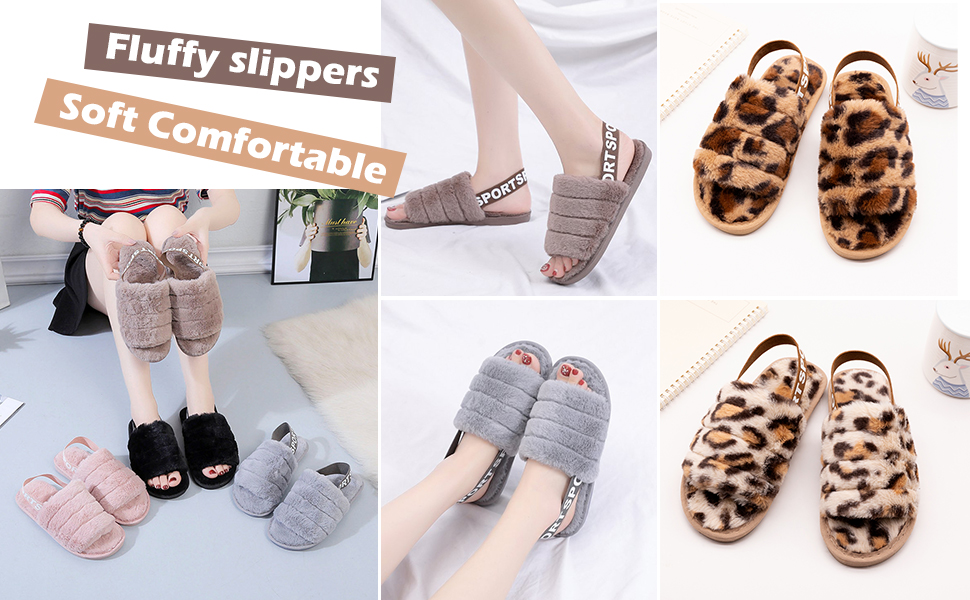 Imminent Leopard Panther Zoo Slippers Indoor Slip-On Sandals Flat Sleeppers Shoes Original Flip-Flops Adults
