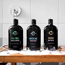 combo tea tree shampoo conditioner body wash