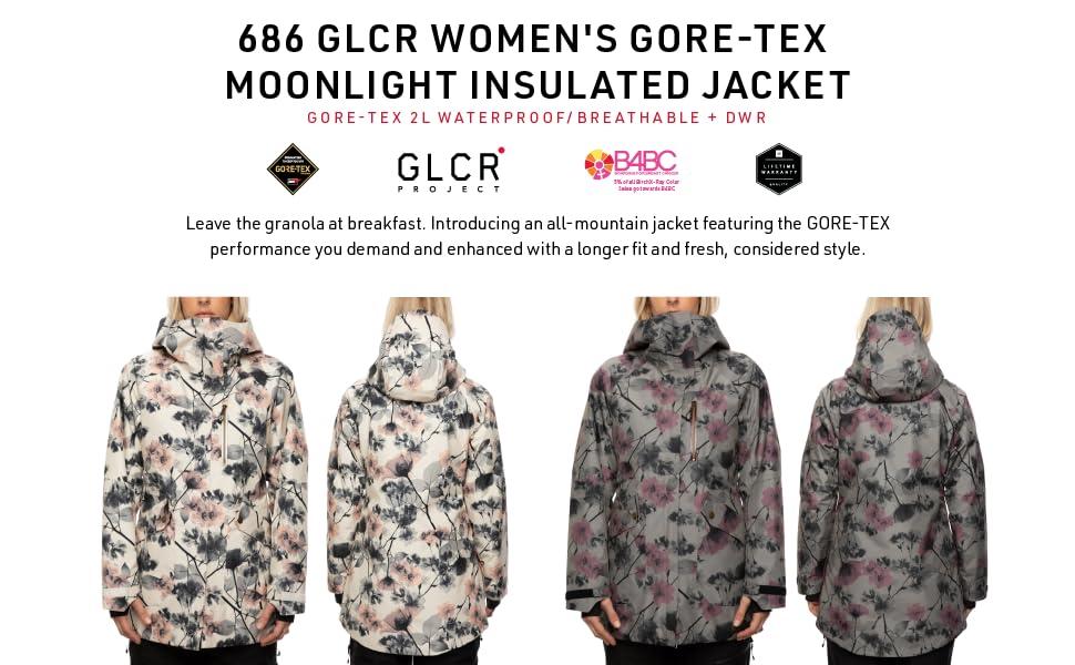 686 Womens GLCR Gore Moonlit Jacket