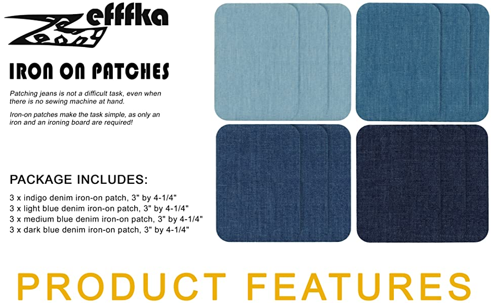 Zefffka + Package include 12 pcs, 4 colors, size 3 by 4-1/4