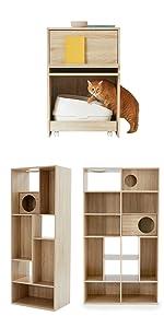 猫家具 本棚 ブックラック 収納 ラック キャットウォーク キャットタワー ネコトイレ トイレ収納 猫 多頭飼い 壁面収納 ペットハウス 猫ハウス 猫インテリア おしゃれ