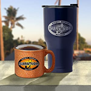 official survivor drinkware mugs tumblers water bottle campfire cup tervis yeti glassware pint glass
