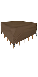 Waterproof Square/Round Patio Table amp; Chair Set Cover