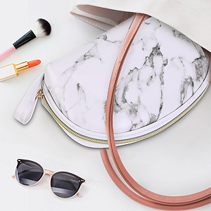 marble makeup bag for women cosmetic bag for travel