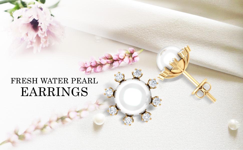Banner Freshwater Pearl Earrings