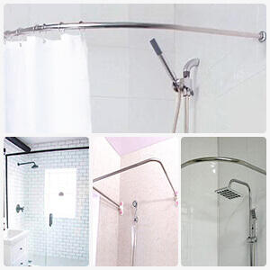 Christmas bath shower curtain
