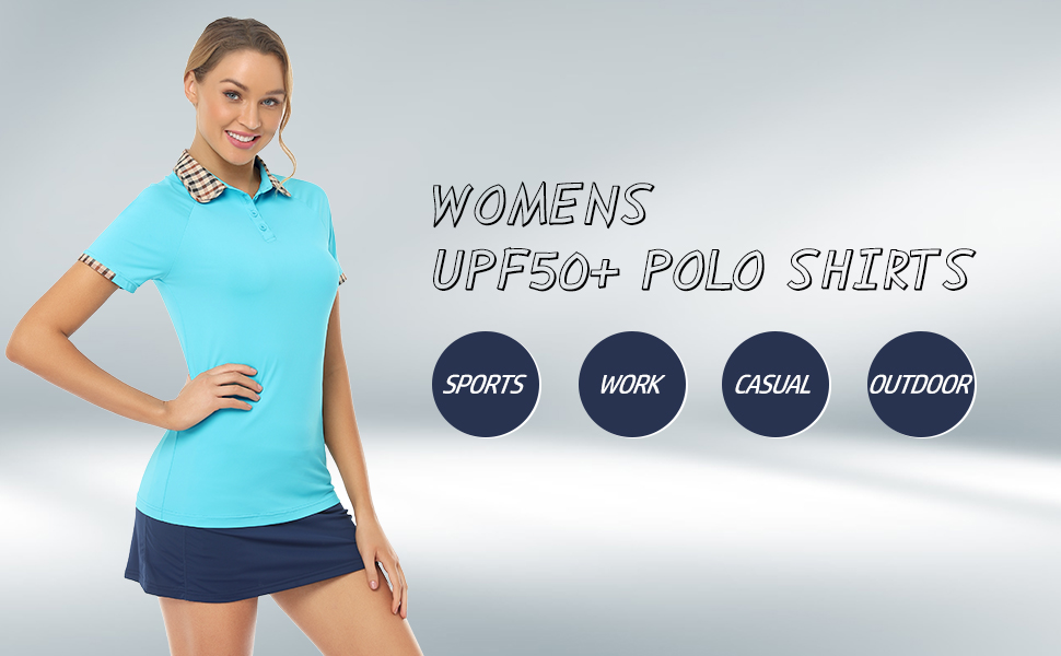 sport polo shirts for women