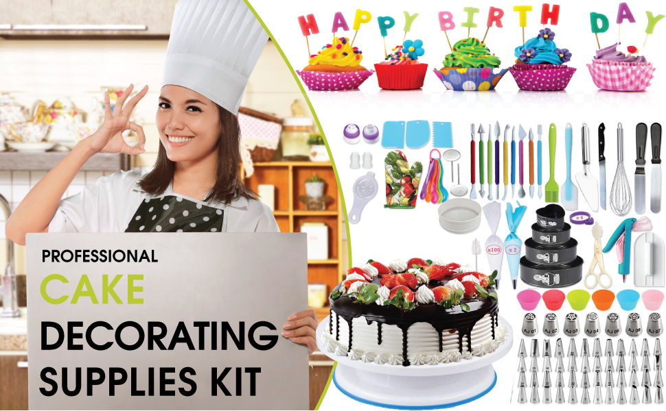 piping tips cookie decorating supplies baking rotating cake stand cake decorating fondant tools fon