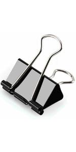 Coideal Black Large Bulldog Clips verdickt 10er Pack 3 Zoll lange Metallbinder B/üroklammern f/ür Office 77mm