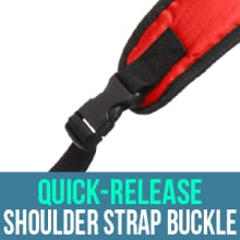 Quick-release shoulder strap buckle