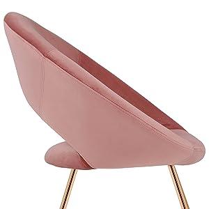 duhome accent chair velvet desk chair