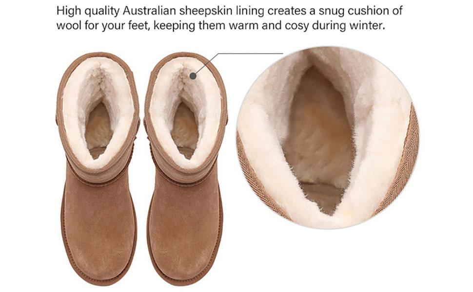 sheepskin boots lining