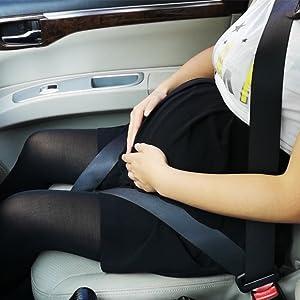 ZUWIT Bump Belt, Maternity Car Belt Adjuster, Comfort & Safety for Pregnant Moms Belly,