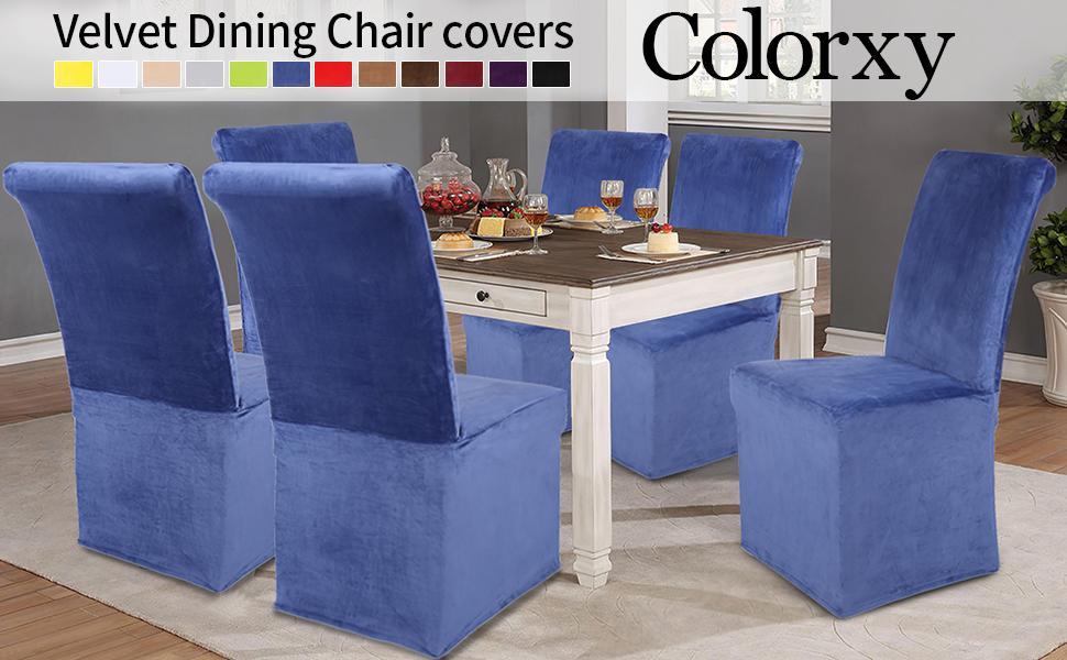 Colorxy Velvet Dining Chair covers
