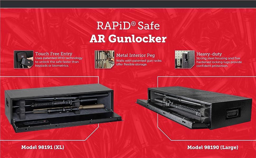 Rapid safe AR gunlocker