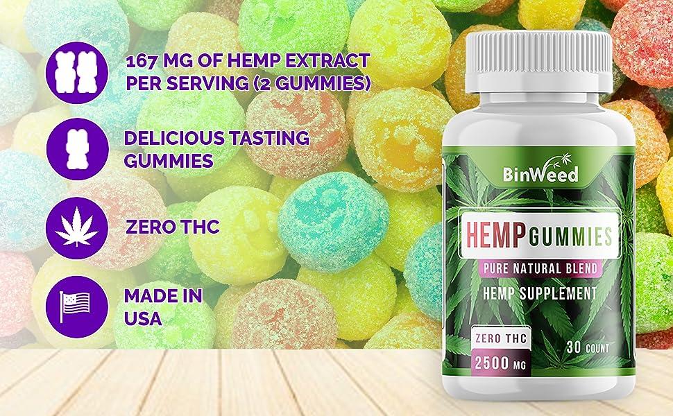 167 mg hemp extract gummies made in usa delicious tasting gummies