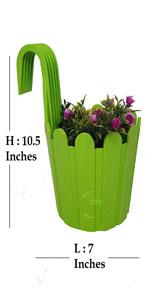 HANGING FLOWER POTS FOR HOME DECORATION