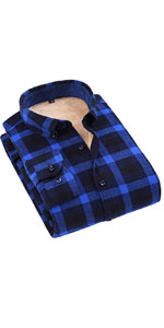 Long Sleeve Sherpa Lined Flannel Rugged Plaid Shirt Jacket