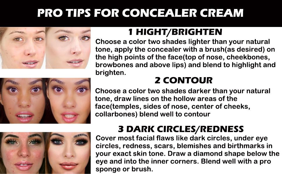 concealer highlighter contour