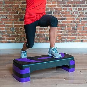 PRISP Step para Fitness 78 cm; Ajustable en 3 Alturas (10/15/20cm ...