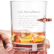 308 caliber bullet whiskey glass