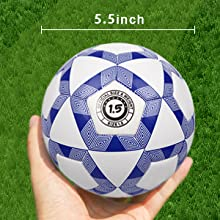 YANYODO Mini Soccer Ball for Kids,Toddlers and Babies Soft Touch Balls Size 1.5/Size 3