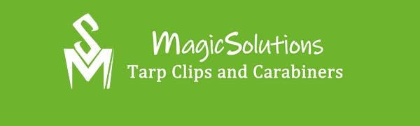MagicSolutions  Tarp clips with Carabiners