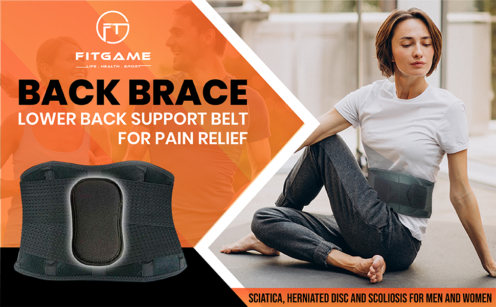 Back brace for lower back support belt for pain relief back belt pain reliever back