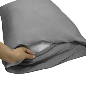 pillowcases queen grey