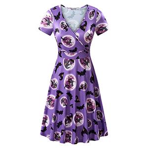 purple halloween dress