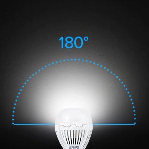 8W 800lm dusk to dawn led light bulb a19 bulb porch patio garage hallway outdoor light bulb 2 pack
