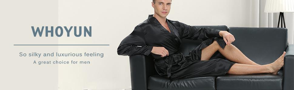 Men's silk robe