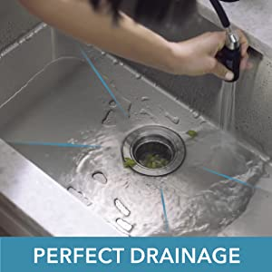 drain grooves