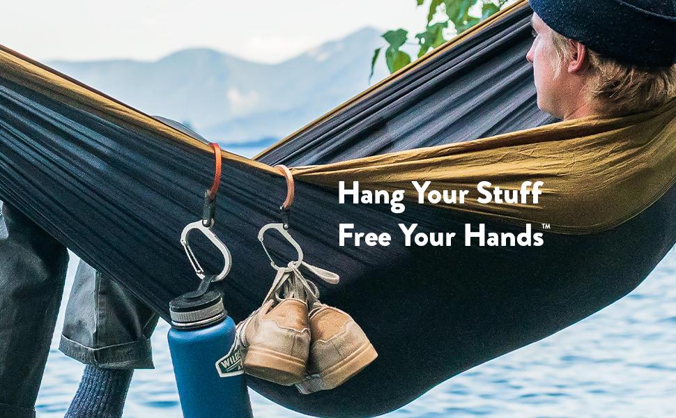 Heroclip, free your hands, carabiner, clip hook,