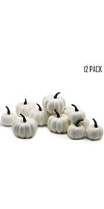 12 pcs Artificial Pumpkin Decoration