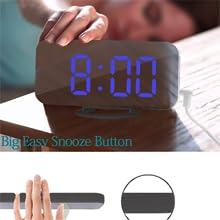 digital alarm clock black