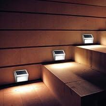solar powered stair lights