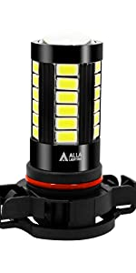 Alla Lighting 12276 2504 PSX24W 6000K White LED Fog Lights Bulbs DRL 12V Car Truck