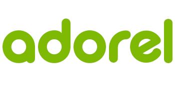 El logo de Adorel en verde