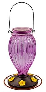 Glass Hummingbird Feeders, Violet