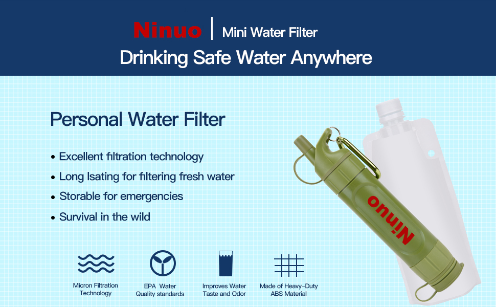 Ninuo mini water filter for camping